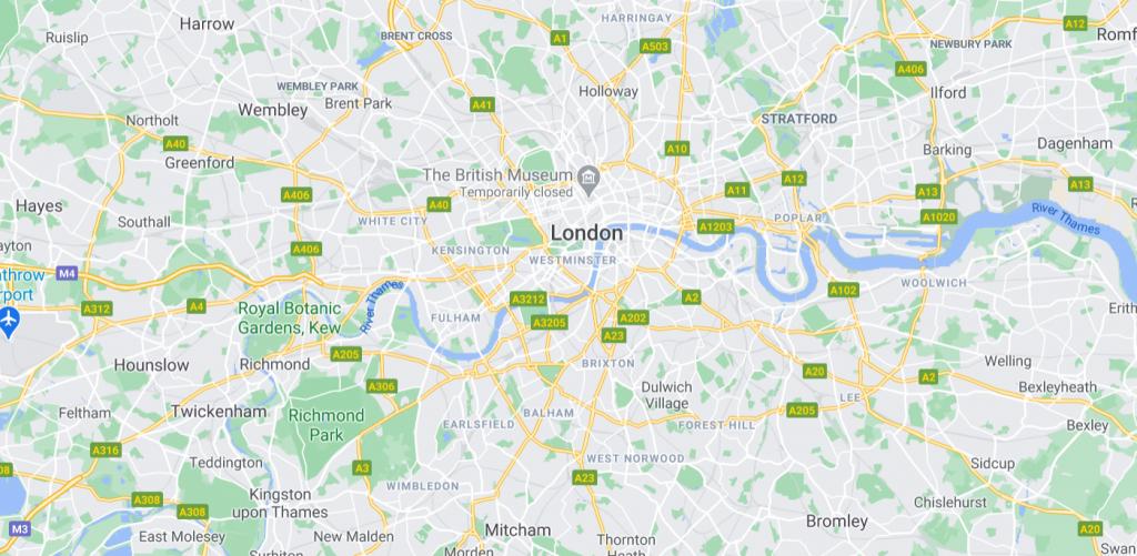 scrap car collection map london